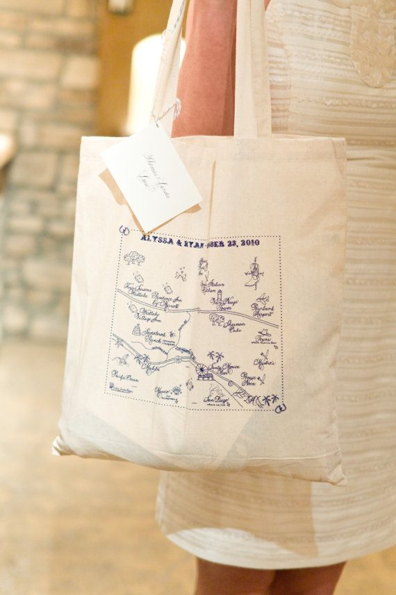 Malibu/Los Angeles Destination Tote Bags  set of by LHCalligraphy, $375.00