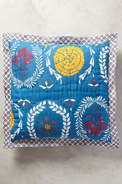 Geneva Down Alternative Euro Sham Insert Square Pillowcase Embroidered Pillow Embroidered Quilts