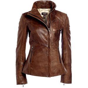 Women's leather jacket brown – Modern fashion jacket photo blog