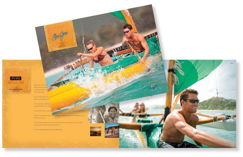 Maui Jim - Catalog Cover and Spread