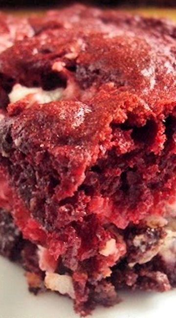 Red Velvet Earthquake Cake Red Velvet Cake With Cream Cheese Choc Chips And Coconut Dessert Earthquake Cake Recipes Earthquake Cake Cooking Cake