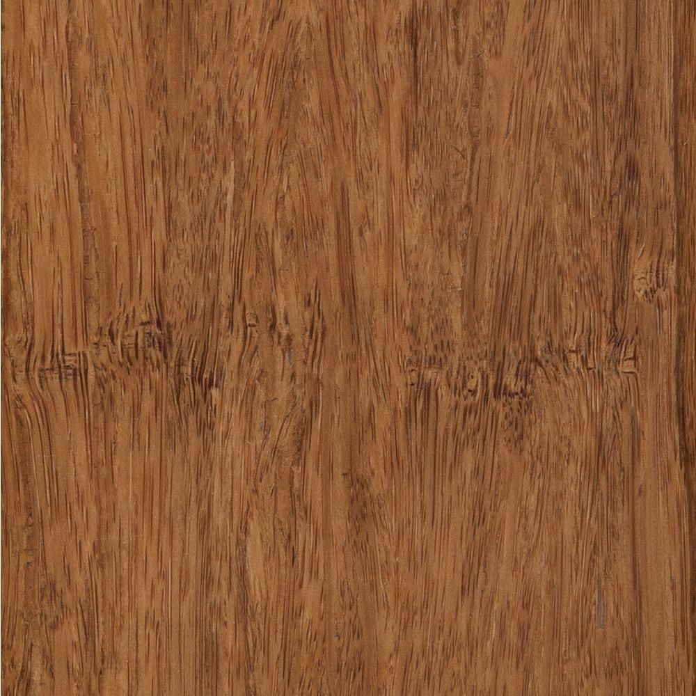 Take home sample strand woven toast solid bamboo flooring in