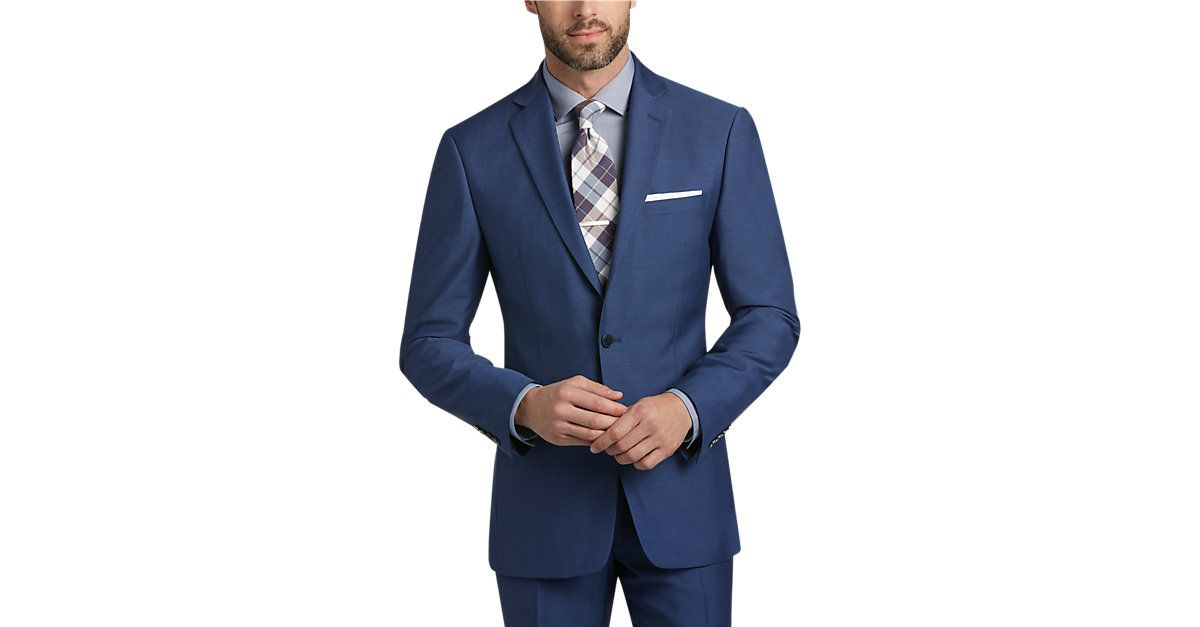 aaca1473 Check this out! Blue Postman Suit - Men's Suits - Calvin Klein from  MensWearhouse. #MensWearhouse