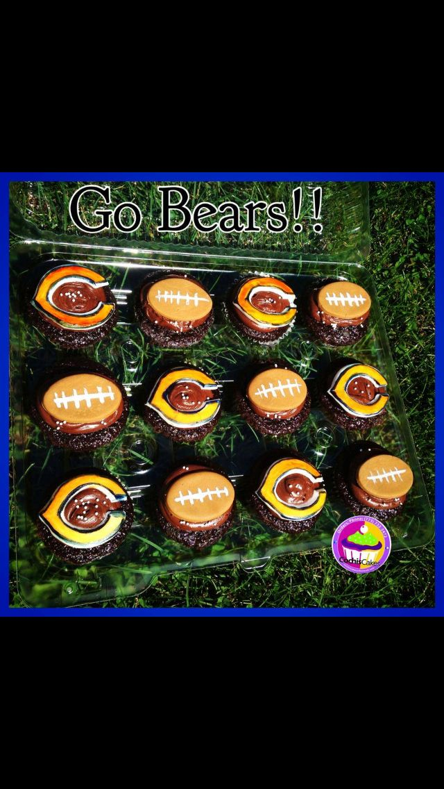 Chicago Bears cupcakes