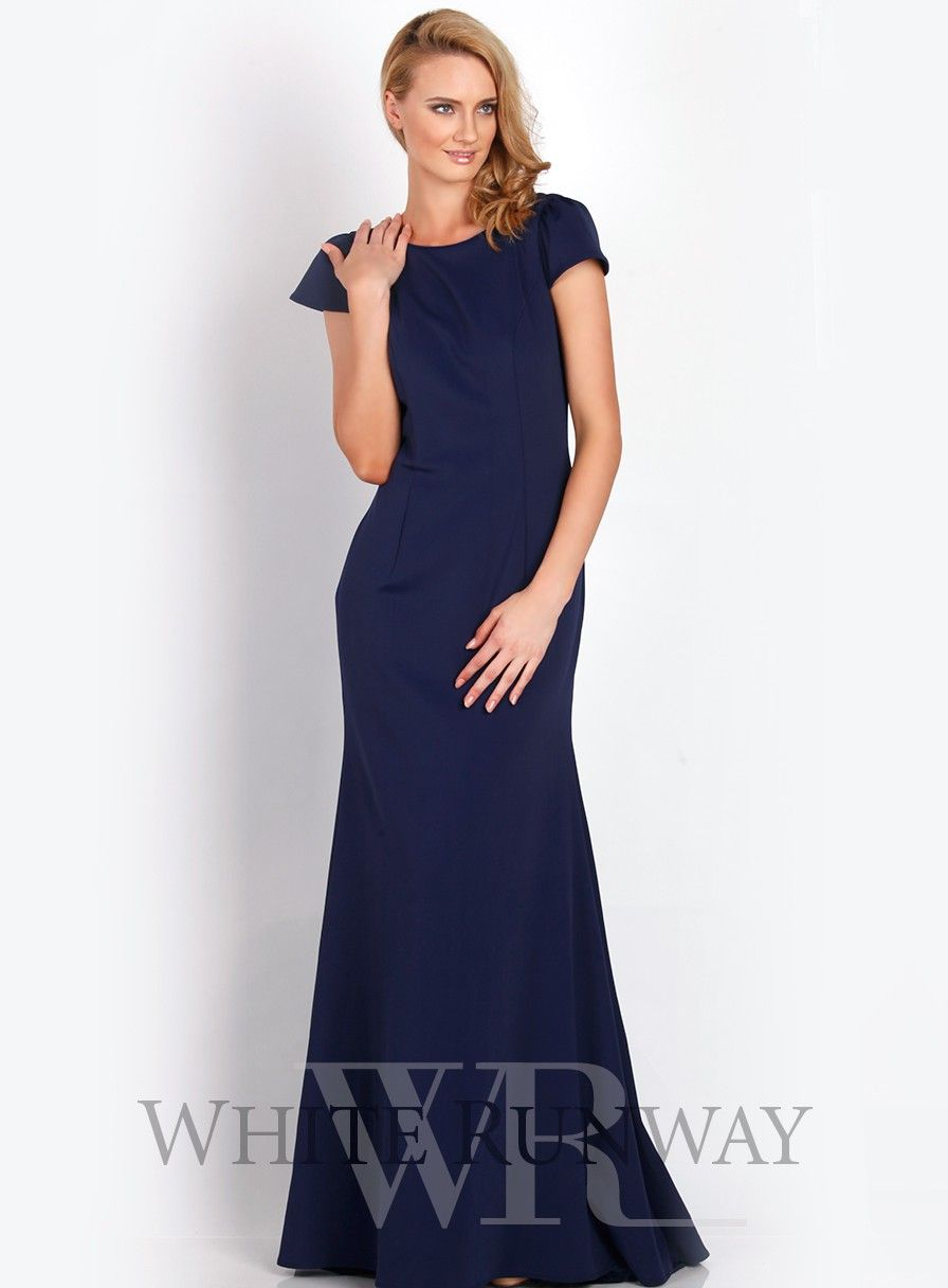 Plus size wedding guest dresses with sleeves  Anastasia Cap Sleeve Gown  Up to US size   Plus Size Wedding