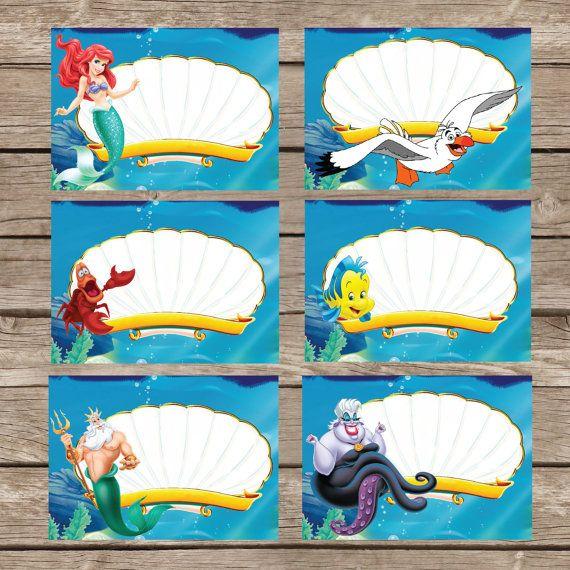 Little Mermaid Food Tent Ariel Little Mermaid by Invitationcard  sc 1 st  Pinterest & Little Mermaid Food Tent Ariel Little Mermaid by Invitationcard ...