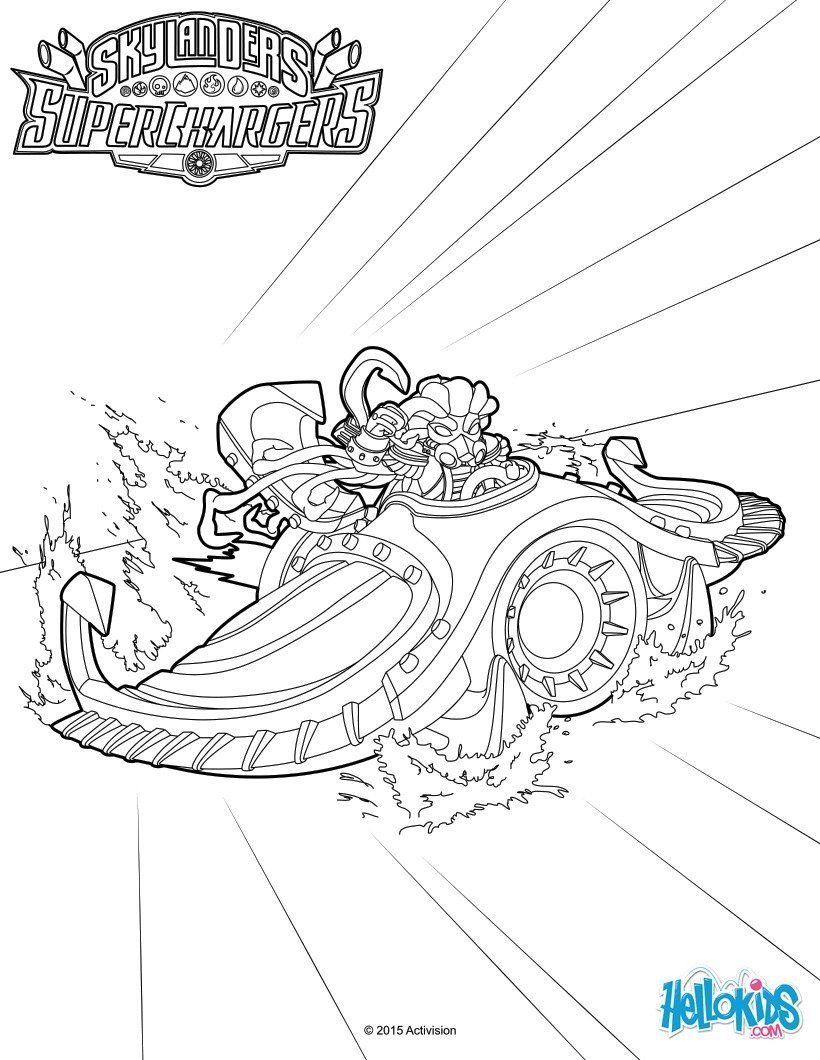 Sea Shado Is Nightfalls Signature Water Vehicle In Skylanders SuperChargers More Content On Pages To ColorKids
