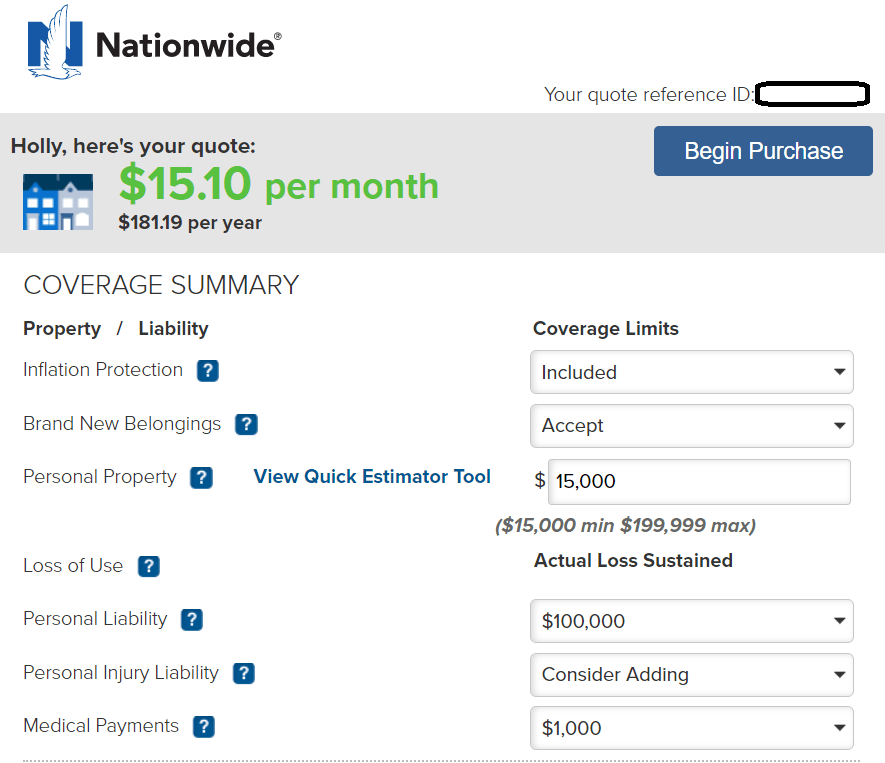 Nationwide Auto Quote Idea In 2020 Renters Insurance Homeowners