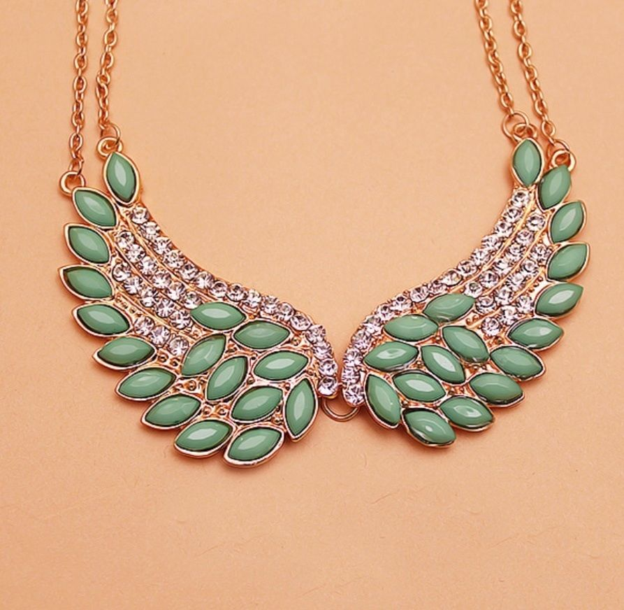 e39a15b08 Winged Gem Statement Necklace · Blue Box Boutique Inc. · Online Store  Powered by Storenvy