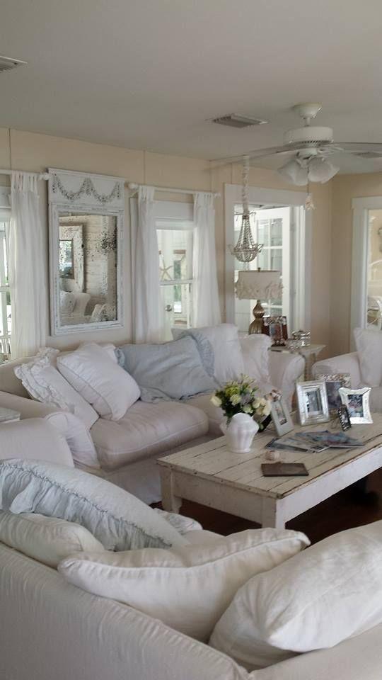 37 Enchanted Shabby Chic Living Room Designs - DigsDigs ...