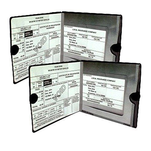 Essential Car Auto Insurance Registration Black Document Wallet