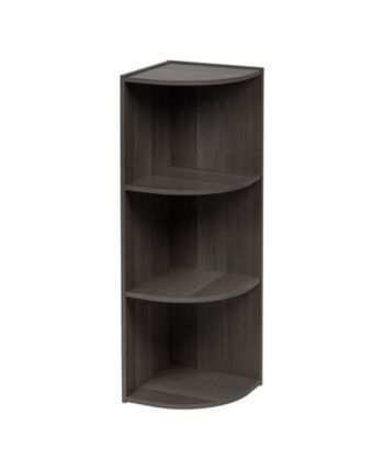 Iris Usa 3 Tier Corner Curved Shelf Organizer Reviews Furniture Macy S Corner Storage Shelves Corner Bookshelves Corner Storage
