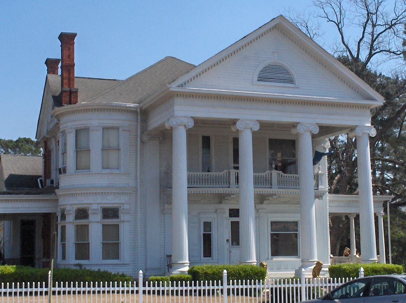 greek revival style architecture house with pillars