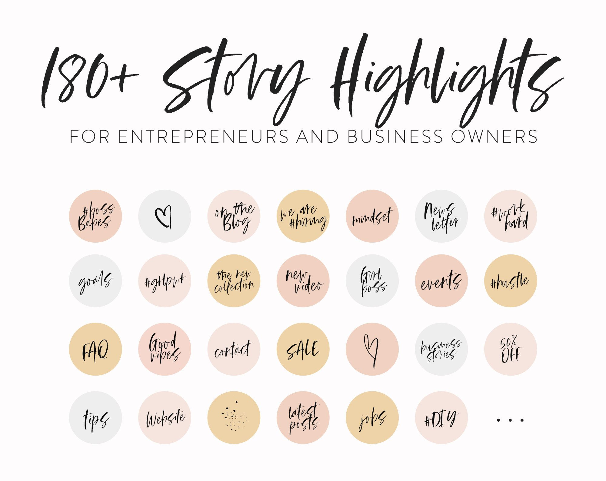 Instagram Business Icons 40 Instagram Highlight Covers Instagram Templates W Handwritten Icons Instagram Highlight Icons Girlboss In 2020 Instagram Business Instagram Highlight Icons Business Icon