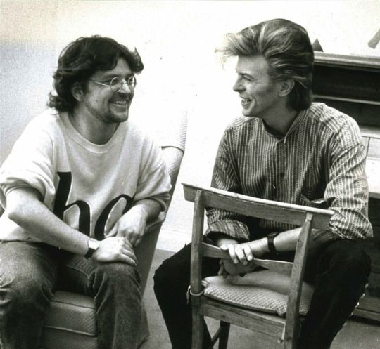 "David Bowie interviewed by Måns Ivarsson for ""Expressen"" in Gothenburg,1987 © Torbjorn Selander"