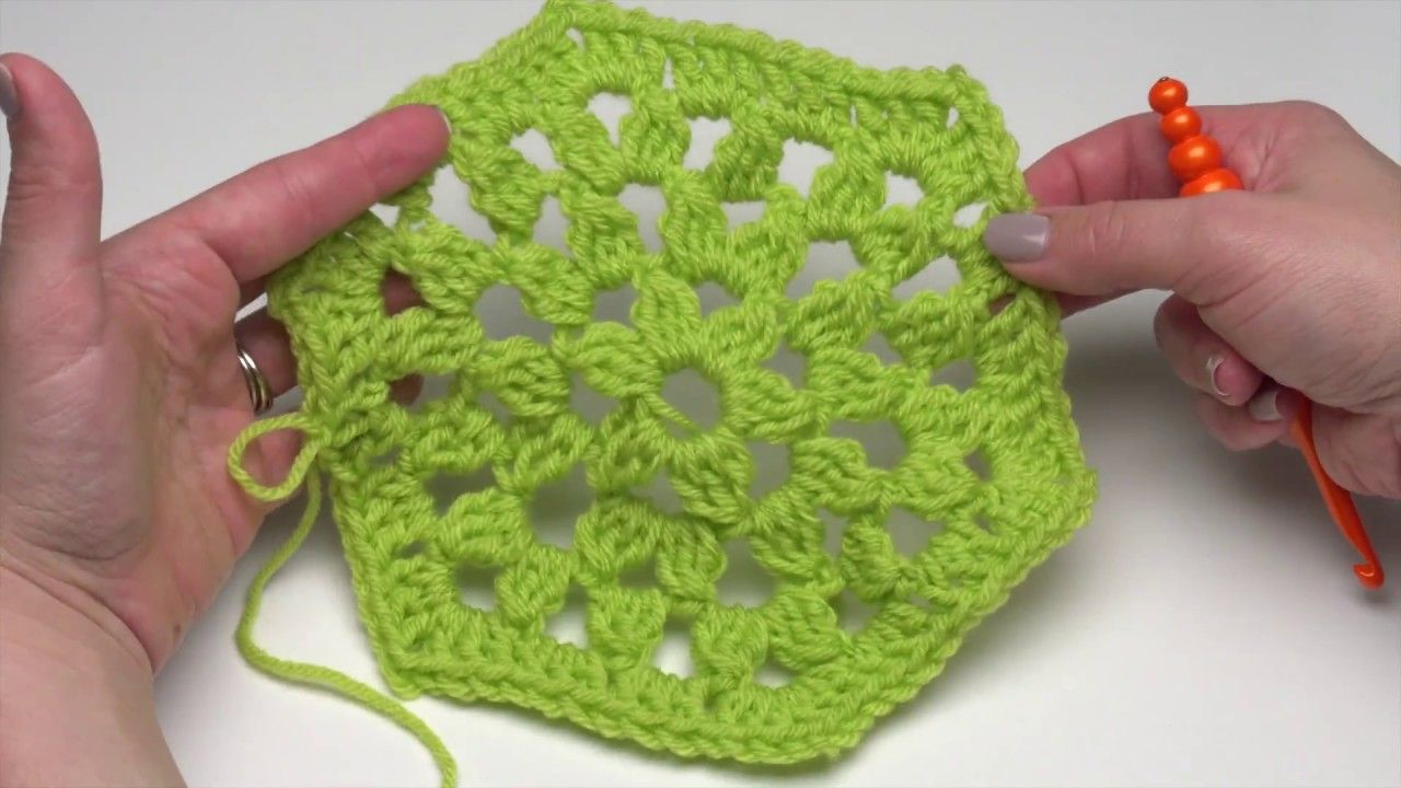 How to Crochet: Traditional Hexagon Motif (Right-Handed ...