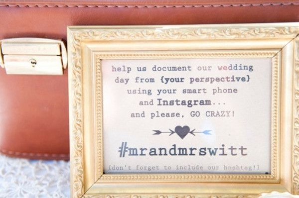 10 great ideas to hashtag your wedding with instagram wedding