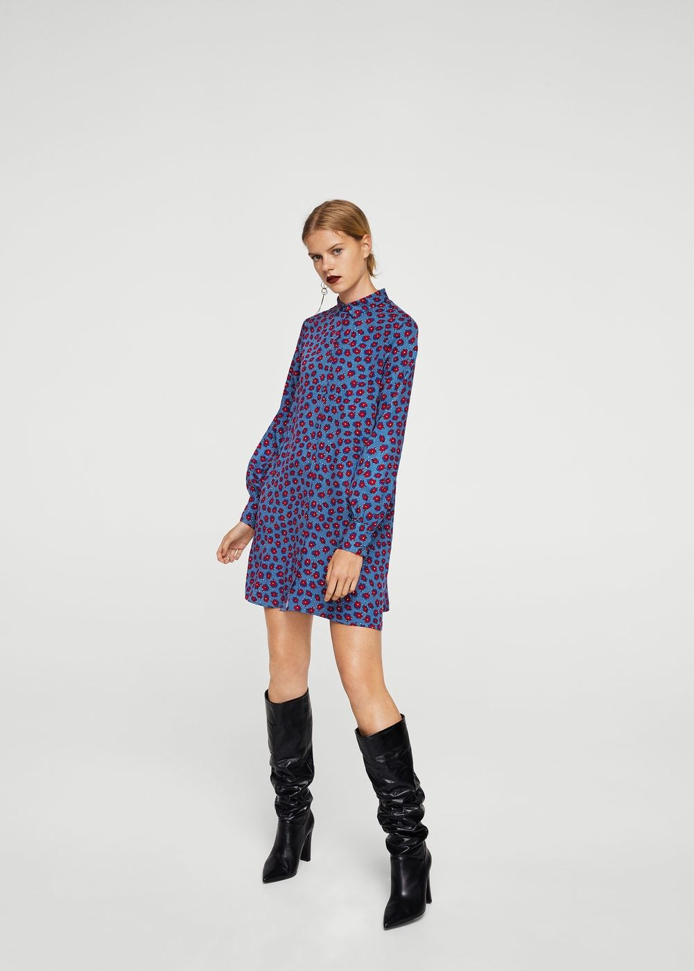 Vestido camisero estampado Vestidos de Mujer | ♥ I ♥ I