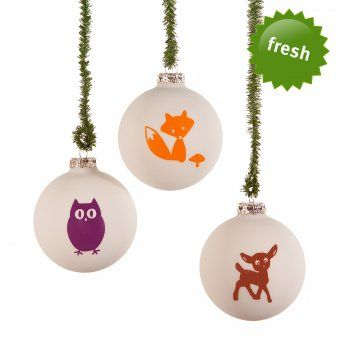 Design3000 Christbaumkugeln Waldtiere Christmas Ornaments