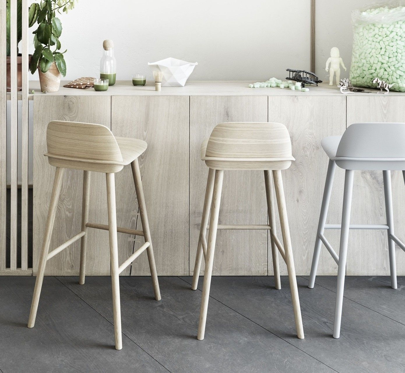 Muuto Nerd Bar Stool Breakfast Bar Chairs Kitchen Bar Stools Bar Stools