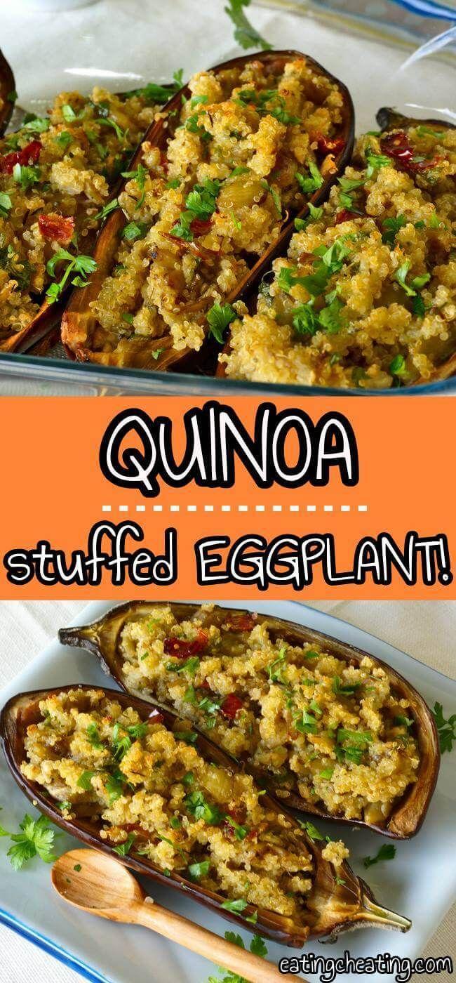 Quinoa Stuffed Eggplants