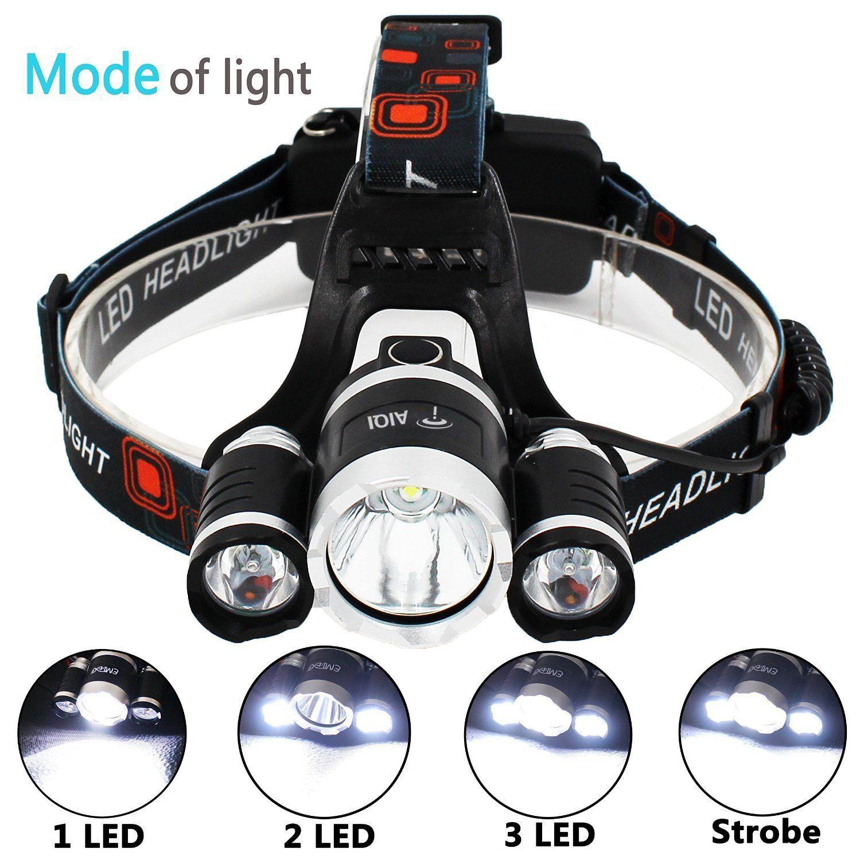 6000 Lumens 3 X Cree Xm L T6 Led Lampe Frontale Par Aiqi