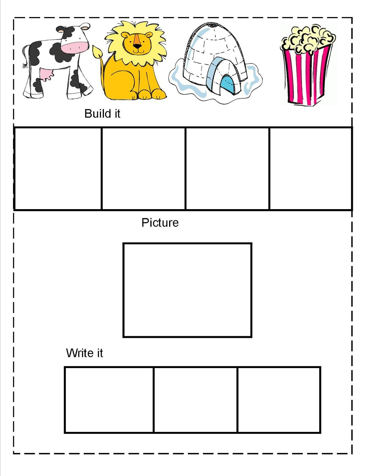 Kindergarten Word Family Worksheets Check This Out Learn