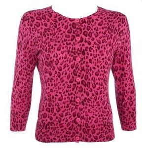 Pink animal print cardigan | My Dressing Your Truth Type 3 Style ...