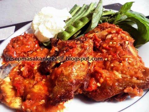 Resep Ayam Penyet Goreng Sambal Enak Pedas Resep Ayam Resep Masakan Masakan