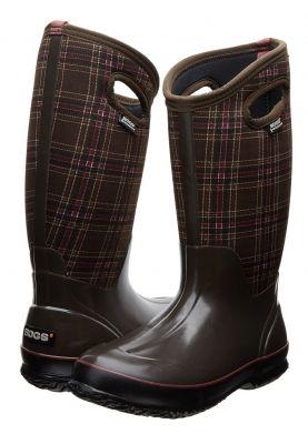 Bogs laarzen Classic tall winter plaid chocolate (Maat 37