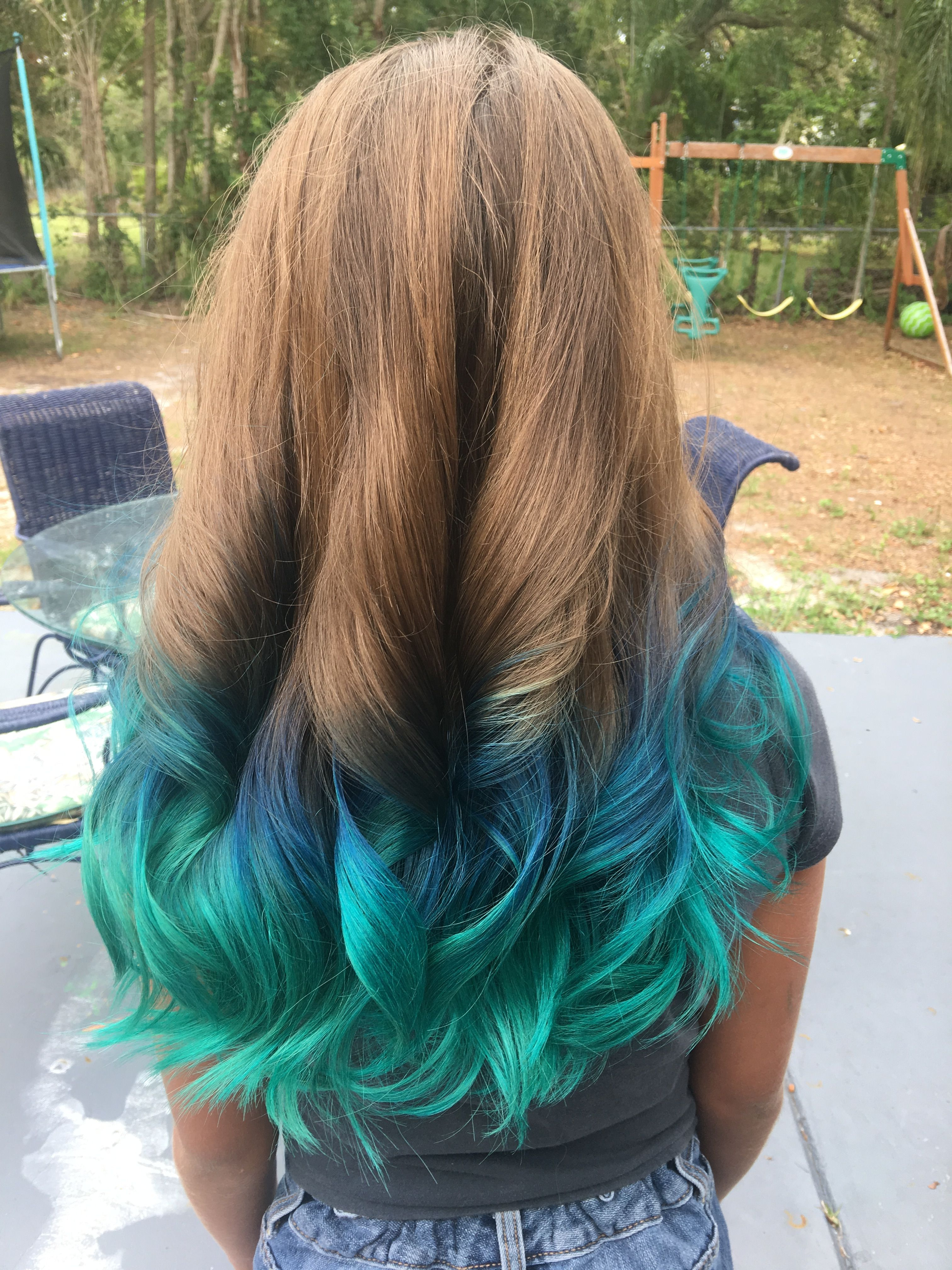 Ombre Dark To Light Blue Mermaid Hair With Images Ombre Hair