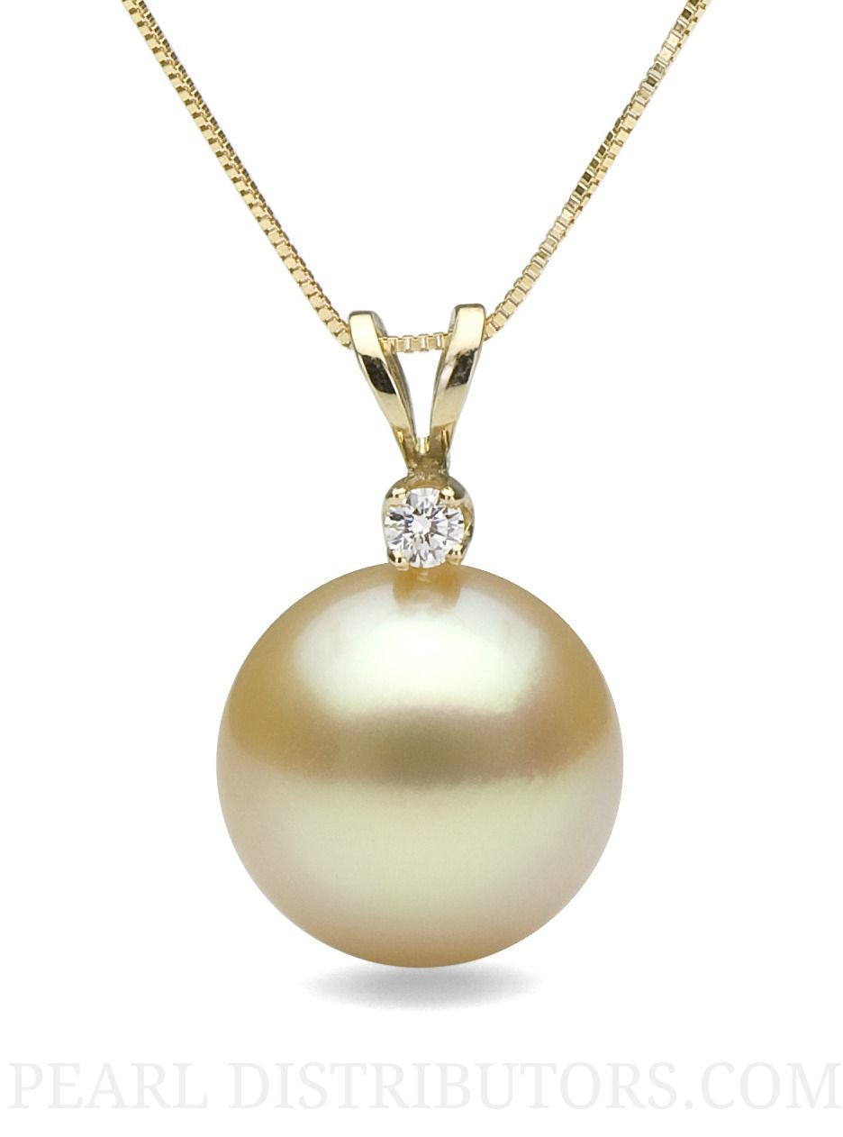 Pearl necklace with pendant looking at all of these pieces of golden south sea pearl pendant necklace with diamond 2 aloadofball Choice Image