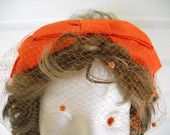 Wild Bright Halloween Orange Vintage 50s / 60s head band womens Hat and great for that Halloween Costume by vintagefinds61 on Etsy, $14.00 USD