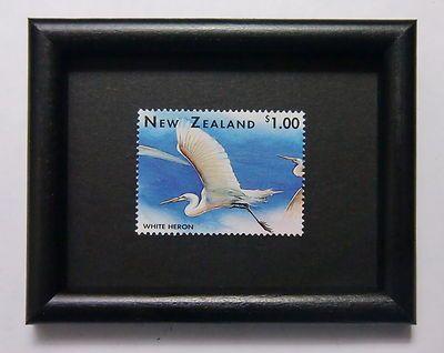 White Heron.....postage stamp art