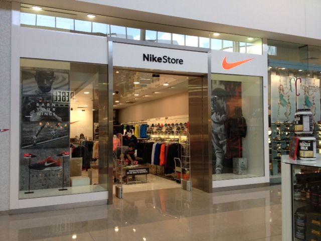Nike retail window display Tech Fleece Nike Factory Store