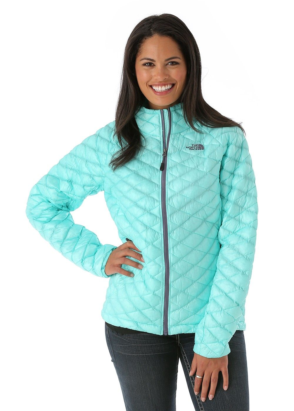 2b2b0f890 The North Face Women's Thermoball Full Zip Jacket (Mint Blue ...