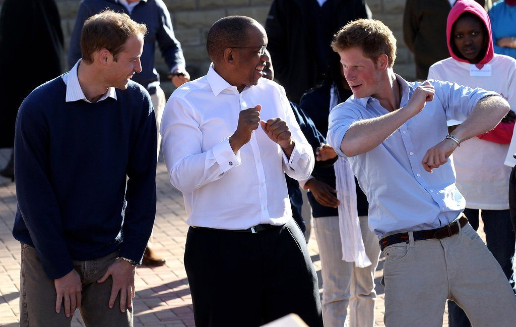 William And Harry With Prince Seeiso Of Lesotho In June 2010 Prince Harry British Royals Funny Photos