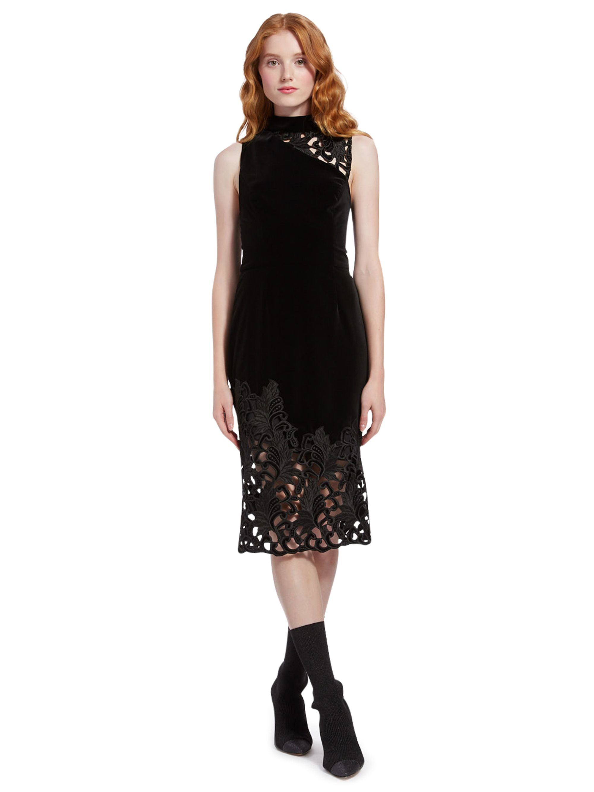 Kiana Velvet Midi Dress By Alice Olivia Velvet Midi Dress Stretch Midi Dress Designer Outfits Woman [ 2667 x 2000 Pixel ]