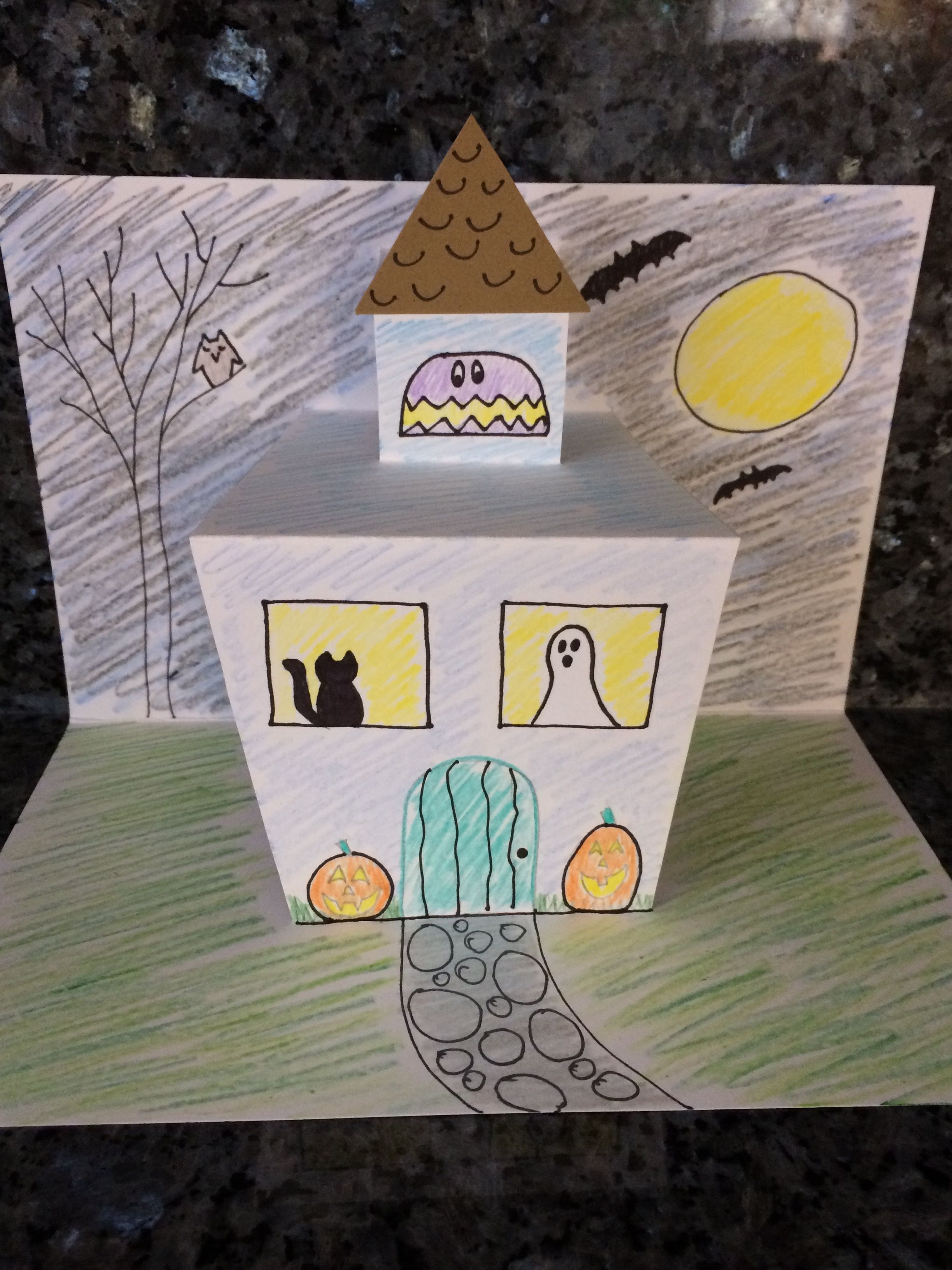 Pop Up Haunted House Project