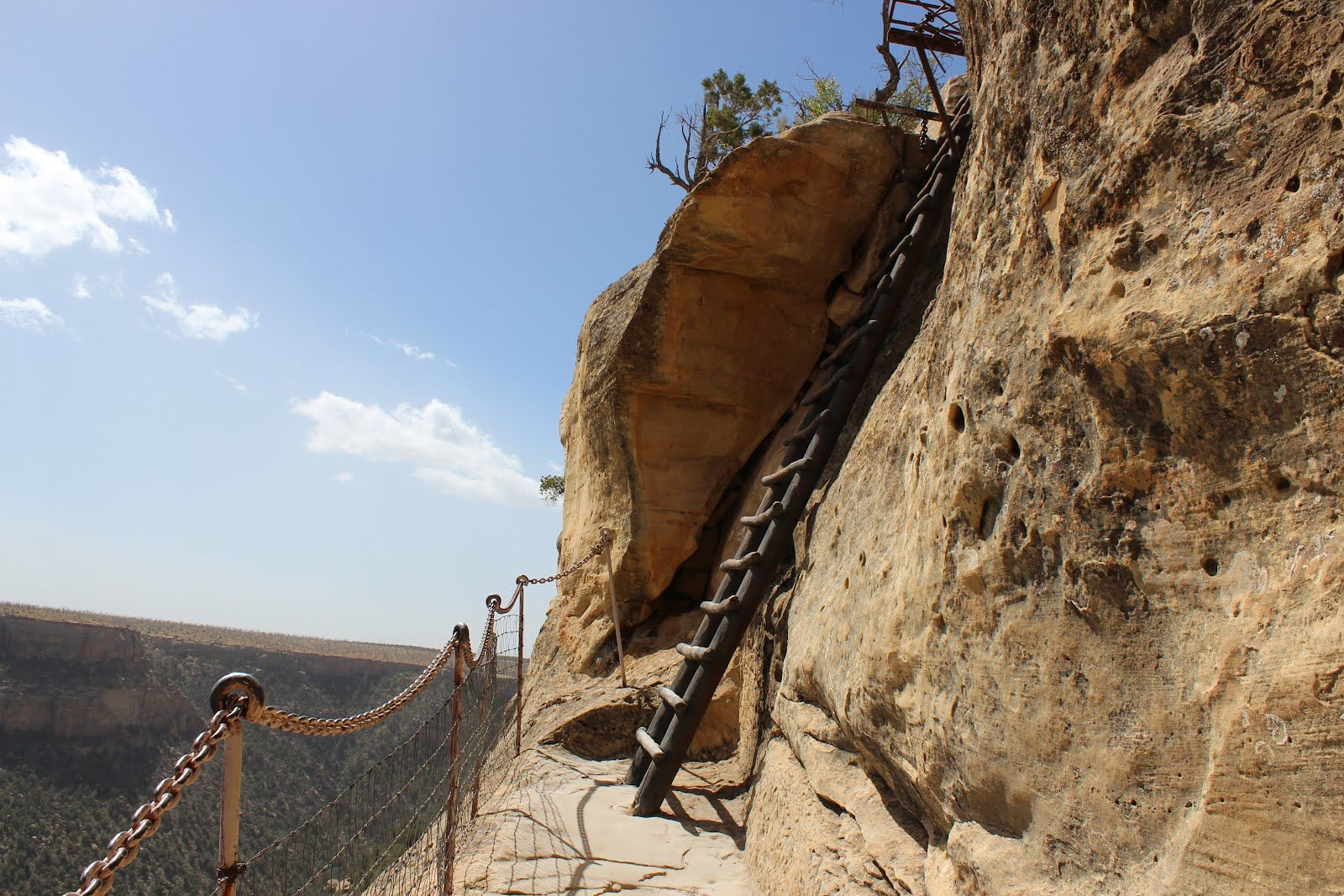 part of the climb to the mesa verde balcony house