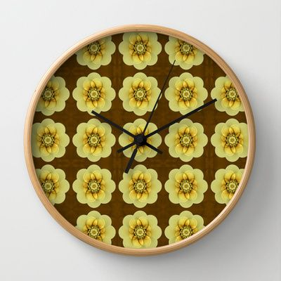 Pattern little Blossoms  Wall Clock by Christine baessler - $30.00