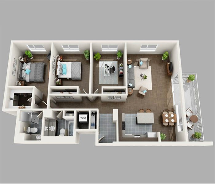 1 2 Amp 3 Bedroom Apartments In Seattle Wa Panorama Apartments Architectural House Plans Apartment Floor Plans Sims House Design