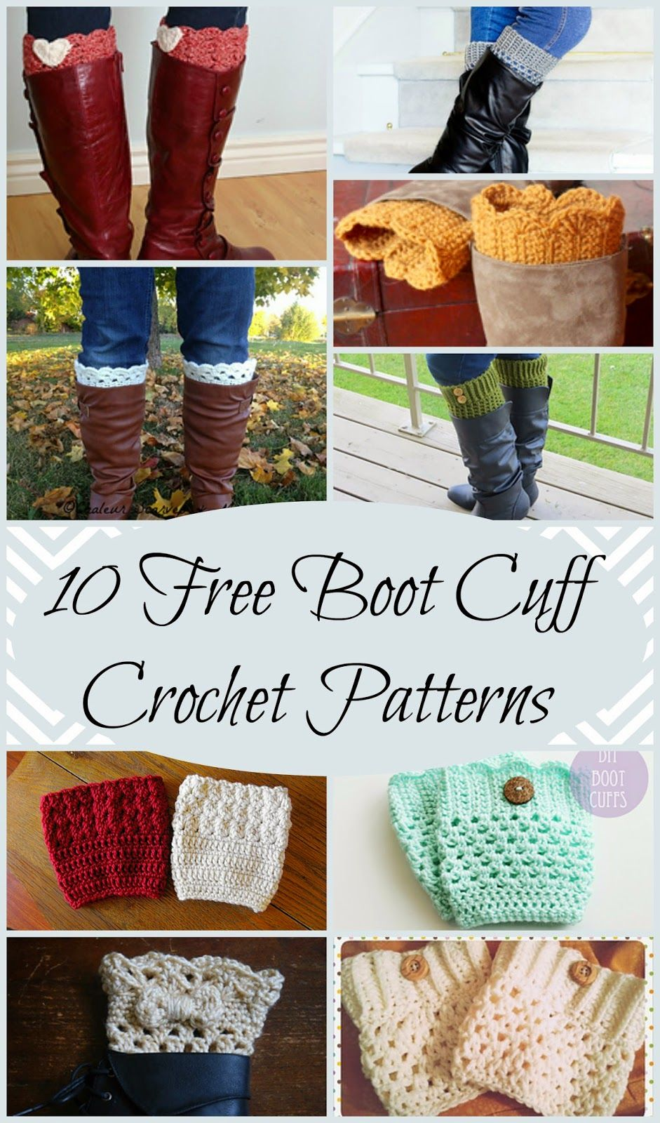 10 Free Boot Cuff Crochet Patterns perfect for a quick and easy ...