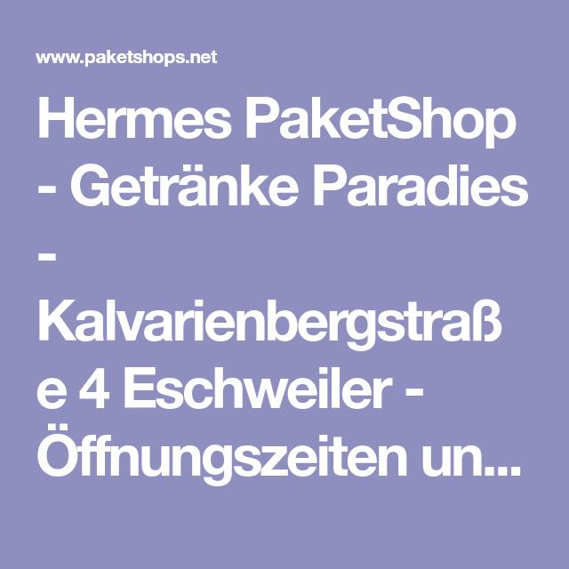 Hermes PaketShop - Getränke Paradies - Kalvarienbergstraße 4 ...