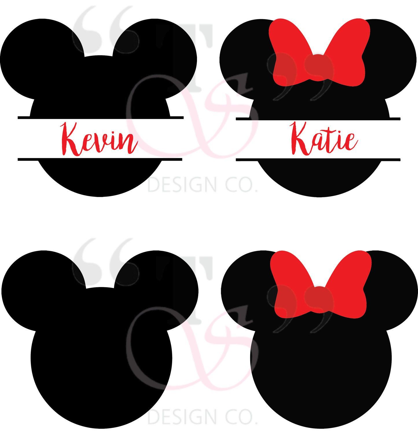 Disney Mickey Minnie svg file for Cricut, Silhouette, and similar