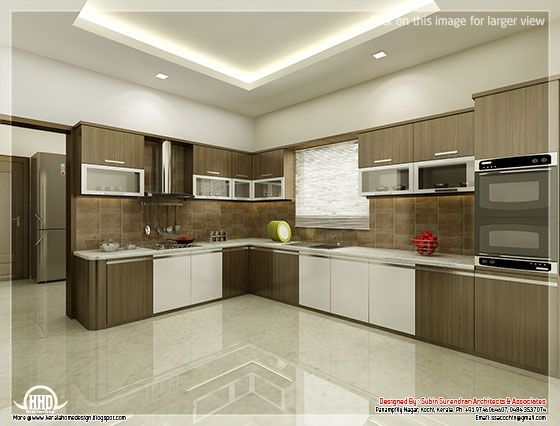 Gentil Kitchen And Dining Interiors   Kerala Home Design And Floor Plans