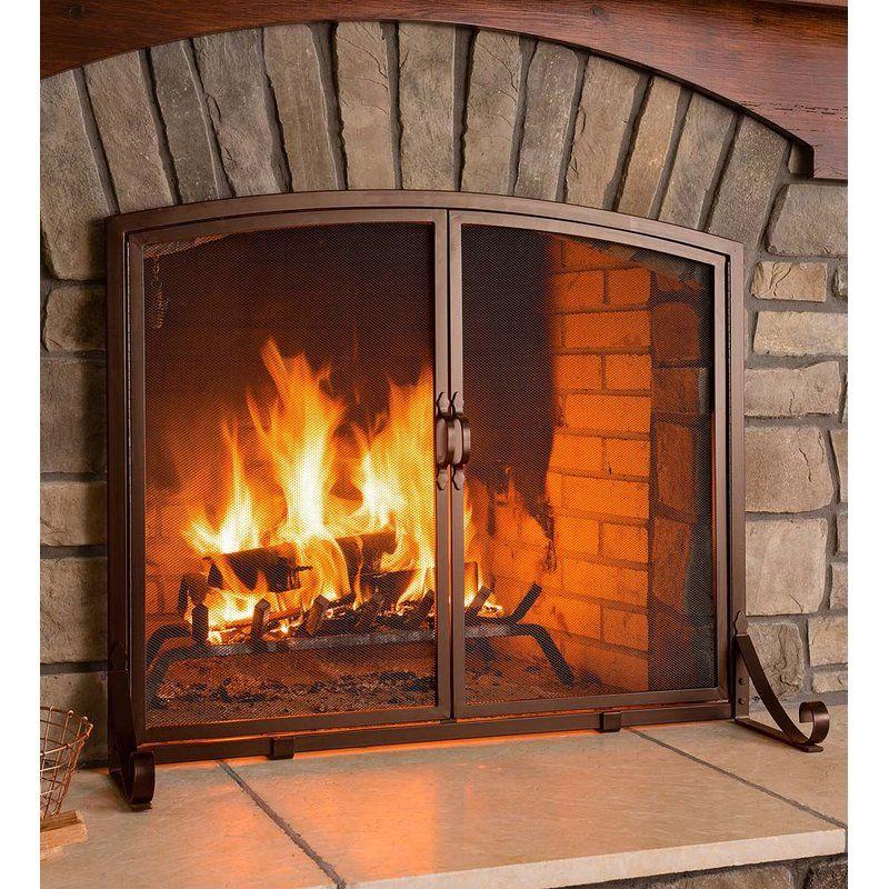 2 Panel Steel Fireplace Screen Fireplace Screens With Doors