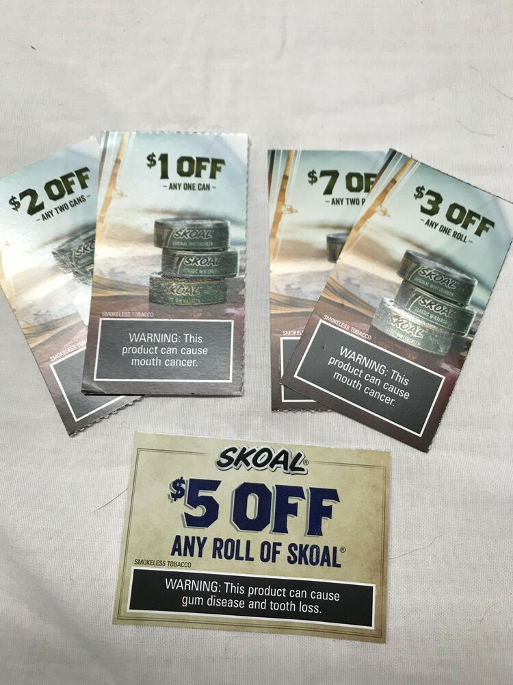 Lot Of 5 Skoal Coupons eBay Kroger couponing, Ebay