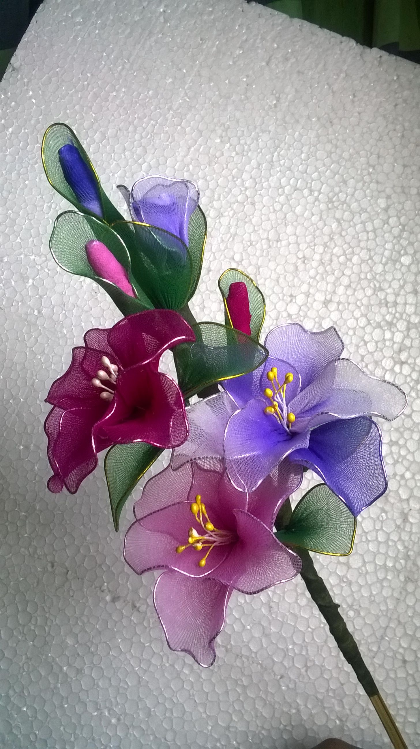 Flower Bunch From Stocking Cloth Crafts To Do Pinterest Flower