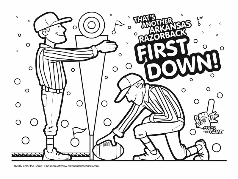 dailycoloringpagescom arkansas razorback college football coloring pages 09 - College Football Coloring Pages